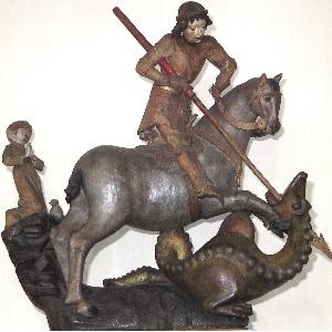 St. Georg im Kampf mit dem Drachen